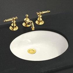 """KOHLER - KOHLER K-2210-96 Caxton 17"""" x 14"""" Under-Mount Bathroom Sink with Overflow - KOHLER K-2210-96 Caxton 17"""" x 14"""" Under-Mount Bathroom Sink with Overflow and Clamp Assembly in Biscuit"""