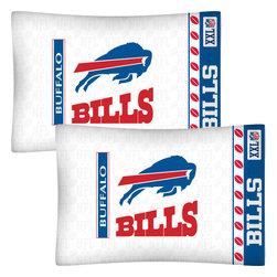 Store51 LLC - NFL Buffalo Bills Football Set of 2 Logo Pillowcases - Features: