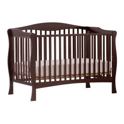 Stork Craft - Stork Craft Savona Fixed Side Convertible Crib in Espresso - Stork Craft - Cribs - 04550419 - The Savona collection by Stork Craft adds class to your nursery!  Designed with safety in mind it has a well built construction made of attractive solid wood and wood products offered in a variety of non toxic durable finishes. Set-up this extravagant nursery piece effortlessly with it's easy to follow directions  Complete your nursery look by adding an assortment of matching pieces by Stork Craft.