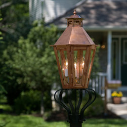 "Corvino Post Mount Electric Lantern - 32"" - Dress up your pathway or entrance with the Corvino Post Mount Lantern."
