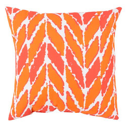 "Surya - Surya RG-174 20"" x 20"" Polystyrene Decorative Pillow - Blending the tantalizing trends of today, this pillow will create a fashion forward look for your outdoor or indoor space. Featuring a tribal chevron design in impeccable oranges, this piece sure to become a trendy, eye catching part of your room. This 18x18 pillow contains a Virgin Poly Styrene Bead fill providing a reliable and affordable solution to updating your indoor or outdoor decor."