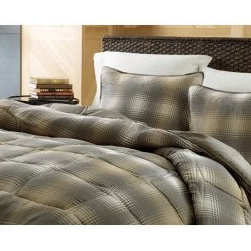 Eddie Bauer Nordic Plaid - You could snuggle into your favorite oversized flannel, or you could get a little more serious about snuggling with the Eddie Bauer Nordic Plaid bed set - and in fact, we wouldn't blame you for choosing both. Crafted with super-soft microsoft fabric, this casual bedding set includes a plush comforter filled with an allergy-friendly down alternative so you can settle in without sneezing. Choose a twin, queen, or king size - the twin set comes with one standard sham and the other sets come with two. Choose dune or raisin plaid. Machine wash.About Eddie BauerSince Eddie Bauer himself strung the first racket in Eddie Bauer's Tennis Shop in 1920, the company's work ethic has always been based on innovative design and exceptional customer service. Now a household name, Eddie Bauer is more than sports goods - it's premium-quality gear, accessories, and clothing designed to complement the lives of those who love outdoor pursuits. Eddie Bauer's home collection proves the company's rugged, athletic spirit can be just as rewarding indoors, too.
