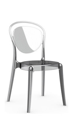 Calligaris - Parisienne Chair, Set of 2, Transparent - A mere whisper, a shadow, a ghost of a chair — this piece floats in a space like a divine entity. Each transparent color glows with its own mood — get them all and let them speak for themselves.
