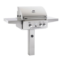 American Outdoor Grill - In-Ground Post/Patio Post Grill and Backburner - All stainless steel construction