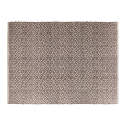 "Blu Dot - ""Blu Dot India 3' x 5' Rug, Dark Grey / Light Grey"" - Woven pattern goes both ways - bold and subtle. Choose between the eye-catching combo of hot fuchsia and brown or the more understated grey on grey."