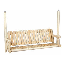 Rustic Cedar Garden Swing Seat Only - 6 ft Cedar - Every yard or front porch should have a rustic swing of natural Northern White Cedar. Our garden swing features traditional styling  a smooth-sanded surface  and rust-resistant coated hardware for years of enjoyment. The 6' Classic Swing design features a traditional straight low back to complement any setting. Seat only.