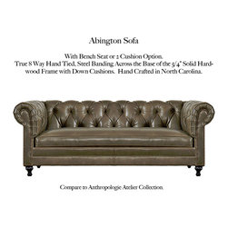 Abington Sofa - Choose from a selection of CLASSIC Tufted Back Chesterfield Styles. Each is Superbly constructed in North Carolina with 5/4 kiln-dried hardwood maple frames and true eight way hand-tied spring construction in a variety of sizes.