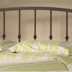 Hillsdale Furniture - Headboard with Frame (King) - Choose Size: KingConstructed of metal in a beautiful, muted gold sparkle finish. Employs an elegant, opposing arched design in the headboard for maximum style. . Some assembly required.. 38.75 in. W x 63.5 in. D x 53 in. H (36.6 lbs.)