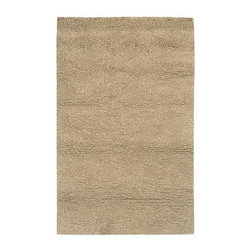 """Surya - Metropolitan MET-8685 Shag Style Wool Rug in Tan (3' 6"""" x 5' 6"""") - Choose size: 3 ft. 6 in. x 5 ft. 6 in.. As soft and sumptuous as a favorite sweater, this luxurious shag style rug will be an inviting addition to any decor. Hand woven of New Zealand wool in a creamy tan finish, the rug is available in a selection of different size and shape options for versatility. Hand woven. Made in India. Shag style. 100% New Zealand Wool and shapes"""