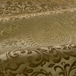 Arabian Silk Fabric in Mosaic - Arabian Silk Fabric In Mosaic Pattern Beige Taupe Silk Jacquard at a Discount. For bedding, drapery, pillows, wall upholstery, light reupholstering if backed. 55″ wide. 13-3/4″ repeat.