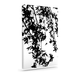 """Kess InHouse - Ingrid Beddoes """"Black on White"""" Wrapped Art Canvas (8"""" x 10"""") - Bring your outdoor patio to life with this artistic outdoor canvas wrap featuring gorgeous artwork by KESS InHouse. These canvases are not only easy to hang and remove but also are the perfect addition to your patio collection. These canvases are stretched around a wooden frame and are built to withstand the elements and still look artistically fabulous. Decorating your patio and walls with these prints will add the splash of art and color that is needed to bring your patio collection together! With so many size options and artwork to choose from, there is no way to go wrong with these KESS Canvas Wraps!"""