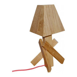 ParrotUncle - Lovely Children Room Wood Table Lamp - Made from all wood,this type of table lamp let your room full of natural breath of spring. Put this table lamp on your table beside your bed,you will have a sweet and peace night. Just image it!