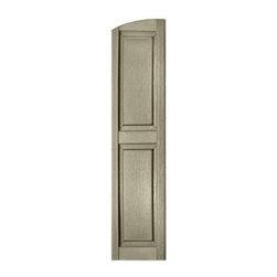 Perfect shutters in raised panel eyebrow top vinyl - Lemongrass custom home design inc ...