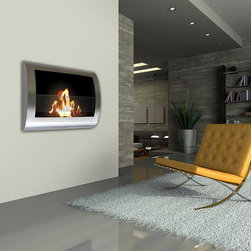 Chelsea Wall Mounted Bio-ethanol Fireplace - Chrome - Anywhere Fireplace™ has sleek contemporary design that will make a statement in any room. It works with any décor. The dancing flames you will have will create a warm, mellow, luxurious atmosphere. It will create a focal point of distinction in your living room, bedroom, family room, dining room… anywhere you wish to enjoy a fire. Easy to install on the wall and all mounting hardware is included.