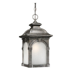 """Vaxcel Lighting - Vaxcel Lighting ES-OD38796 Craftsman / Mission Energy Star 1 Light 18"""" Height Ou - Essex Collection Energy Star 1 Light 18"""" Height Outdoor Chain Hung PendantThe frost seeded glass and craftsman styling of this outdoor pendant light are combined with Energy Star compliance.Features:"""
