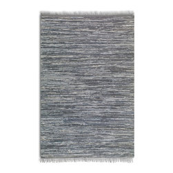 Uttermost - Uttermost Stockton Blue Transitional Hand Woven Rug X-5-75017 - Hand woven rescued blue denim. This rug is not recommended for high traffic areas.