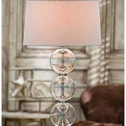 Regina Andrew - Regina Andrew Crystal Glass Ball Table Lamp with Crystal Base - Crystal glass ball table lamp with crystal base.