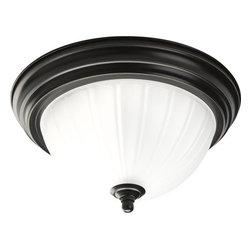 "Progress Lighting - Progress Lighting P3816-EB 11-3/8"" Single Light Flush Mount Ceiling Fixture - Features:"