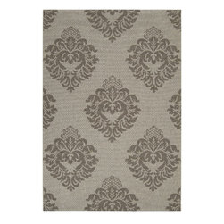 "Surya - Indoor/Outdoor Elements 7'10""x11'1"" Rectangle Light Gray-Dark Gray Area Rug - The Elements area rug Collection offers an affordable assortment of Indoor/Outdoor stylings. Elements features a blend of natural Light Gray-Dark Gray color. Machine Made of 100% Olefin the Elements Collection is an intriguing compliment to any decor."