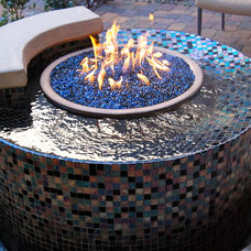 Traditional Landscape by Laguna Pool & Spa