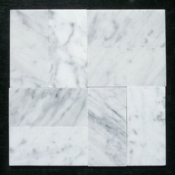 """Stone Center Online - Carrara White 3 x 6 Subway Tile Polished - Marble from Italy - Premium Grade Carrara Marble Italian White Bianco Carrera Polished 3x6"""" Wall & Floor Tiles are perfect for any interior/exterior projects such as kitchen backsplash, bathroom flooring, shower surround, countertop, dining room, hall, lobby, corridor, balcony, terrace, spa, pool, etc. Our large selection of coordinating products is available and includes hexagon, herringbone, basketweave mosaics, field tiles, moldings, borders, and more."""