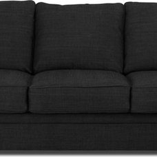 traditional sofas Belsize Black-Grey 3 Seater Sofa