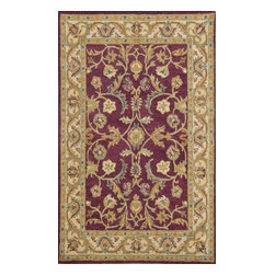"""Dynamic Rugs - Dynamic Rugs Sapphire 4950-313 (Burgundy, Ivory) 3'6"""" x 5'6"""" Rug - This Hand Tufted rug would make a great addition to any room in the house. The plush feel and durability of this rug will make it a must for your home. Free Shipping - Quick Delivery - Satisfaction Guaranteed"""