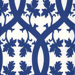 Niccolo Wallpaper from Stroheim - Niccolo has italian sensibility in a clean, modern palette. Use this wallpaper for a bold accent wall in an entry way, bedroom, or dining room. Find it in the Blue and White Wallpaper collection by Stroheim at American Blinds and Wallpaper.
