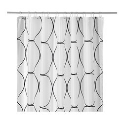 """UDDGRUND Shower Curtain - My favorite color combination is black and white, and basically anything black and white is going to catch my eye. What I really like about this curtain is that the design and the pattern are not too """"in your face."""" This is quite subtle and beautiful, yet it still makes a big impact."""