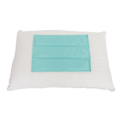 Living Healthy Products - Freezeable Gel Cool Pillow Insert - This heavy duty enclosure is filled with a special foam/gel. Just add water to the fill port and place it in your pillow case with the medical-grade cloth face up. The pillow pulls heat away from your head, quickly dropping the surface temperature. Use the pillow to help you sleep better during those warm summer months. Not only will you save money by not running the AC as often, but you'll also improve your health. The pillow can also be used in lieu of an ice pack. Its cooling effect works wonders on sunburns, swollen joints, and strained muscles. In fact, anything you'd use an icepack for, the pillow can help, without freezing! And because it's not as cold as an icepack, you can use it for a longer period of time without discomfort or melting ice.