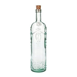 Global Amici Cordoba Recycled Glass Bottle - Set of 2 - The Global Amici Cordoba Recycled Glass Bottle - Set of 2 is a stunning way to gift some of your homemade coffee liquor this year. You get two beautifully designed, recycled glass bottles with raised relief pattern and cork seal. About Global Amici Inc.Global Amici was established in 1982 on the sole principle of providing outstanding houseware products to its customers at a reasonable price. Each product focuses on design, functionality, and beauty. No matter what the occasion, Global Amici offers products that showcase style that can help transform ordinary food and everyday dining into a special presentation, not to be forgotten.