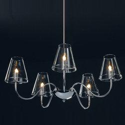 Chic 5 Light Chandelier by Et2 -