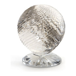 Go Home - Swirled Ball on Lotus Base - Swirled Ball on Lotus Base proves that less is more in this beautiful conversation piece. Perfect for your home office or at your work place, or an exquisite addition to add elegant charm as an accent to your current decor theme.