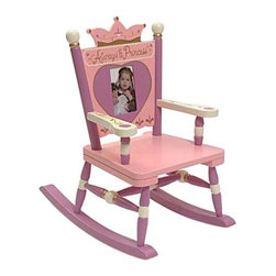 Levels of Discovery - Levels of Discovery Princess Mini Rocking Chair - RAB10003 - Shop for Childrens Rocking Chairs from Hayneedle.com! Let your little girl know just how special she is with the Royal Princess Mini Rocking Chair. Every time she sits in her little rocker throne she will be crowned once again. Gold accents and hand-painted flowers enforce her gentle reign over her dolls and stuffed animal friends.The back of this rocker is a 4 x 6-inch picture frame. You may place a picture of your little girl in this space or she might like to choose her own favorite picture. The words Always a Princess read across the top of the chair above the picture frame. Furniture grade hardwoods make a sturdy construction and the finish colors include lavender pink ivory and gold. Recommended for ages up to 3 years old (50 pounds).Give your sweet one the perfect place for reading and for play. Your own little princess will cherish this rocking chair as an important part of her childhood.