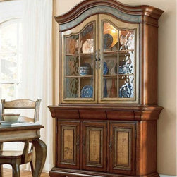 Hooker Furniture - Hooker Furniture Vineyard 53-inch Glass Top Hutch (C) 478-75-901 - Includes Hooker Furniture Vineyard 53 inch Glass Top Hutch (C) 478-75-901 only.