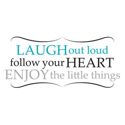 Laugh Out Loud Wall Quote Decals