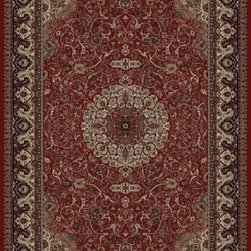 """Concord Global - Persian Classics 2030-Red Isfahan 2.2"""" x 9""""  - Premium Single Stair Treads - Persian Classics 2030-Red Isfahan 2.2"""" x 9"""""""