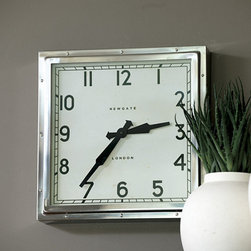 Ballard Designs - Quad Clock - The square shape of this clock is what first catches my eye, but the timeless font and clock hands keep it balanced and sophisticated.