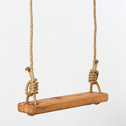 Reclaimed Floor Joist Tree Swing - The best summer activity has to be swinging on swings, so get your own — and make it pretty while you're at it.