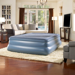 Simmons - Simmons Beautyrest Skyrise 20 in. Express Bed Multicolor - MM01917QN - Shop for Air Mattresses from Hayneedle.com! Dimensions:Twin: 39L x 75W x 18H in.Double: 54L x 75W x 19H in.Queen: 60L x 80W x 20H in.About Simmons:One of the world's leading names in the bedding industry Simmons is known for introducing innovative bedding designs. From their Beautyrest Pocketed Coil technology to their new Recharge Sleep System Simmons products are designed to help you get a better night's sleep and encourage a smart sleep routine.Sound Sleep GuaranteeOur Sound Sleep Guarantee lets you try out your new mattress and make sure you found the perfect one. Give your new mattress a try for 21 days - that's about how long a new mattress takes to conform to your body and for you to get used to it. If after the first 21 days and up to the first 100 days after delivery you decide the mattress isn't for you call us at 866-530-4157 and we'll pick up the old one and exchange it for a different mattress for you. Here are the details:The Sound Sleep Guarantee applies only to the following brands: Laura Ashley iMattress King Koil Sealy Serta Simmons and Stearns & Foster. All other mattress brands cannot be returned.Pick-up and exchange is one time only per customer.A processing and pick-up fee of $99 is required.If you choose a new mattress with a higher price than the one we re picking up you ll need to pay the difference.We are unable to accept returns or cancellations; only exchanges.Valid only within the 48 contiguous states.
