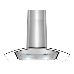 "AKDY - AKDY AK-Z668A Euro Stainless Steel Wall Mount Range Hood, 36"" - This wall mounted chimney hood combines graceful curves and traditional European styling. The 668A series is engineered to meet the requirements of today's' highly styled, conventional appliances and kitchens. Its 760 CFM centrifugal blower and multi-speed control provide quiet, effective performance. LED lighting accentuates the beauty of a fully enclosed bottom containing dishwasher-safe filters."