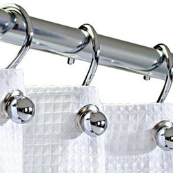 Silver Chrome-Finish C-Hook Shower Curtain Rings, Set of 12 - These minimal, chrome-finish shower curtain hooks are a great way to add an affordable touch of class to your bathroom. Isn't it time to graduate from those super-cheap curtain hooks you got for your first apartment (that may or may not be a tad rusty)?