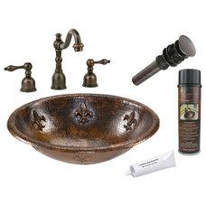 Rustic Bathroom Sinks by Lucido Copper