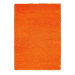 "Capel - Shag Hip Hop Shag 4'4""x6'2"" Rectangle Carrot Area Rug - The Hip Hop Shag area rug Collection offers an affordable assortment of Shag stylings. Hip Hop Shag features a blend of natural Carrot color. Machine Made of 100% Olefin the Hip Hop Shag Collection is an intriguing compliment to any decor."