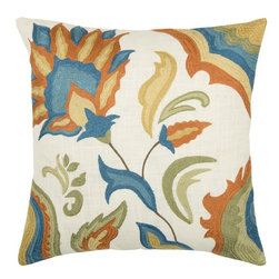 Rizzy Home - White and Multi Decorative Accent Pillows (Set of 2) - T03861 - Set of 2 Pillows.