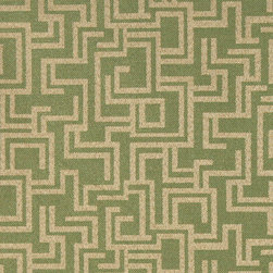 Olive Green Geometric Outdoor Indoor Marine Upholstery Fabric By The Yard - This material is an upholstery grade outdoor and indoor fabric. It is stain, water, mildew, bacteria and fading resistant. It is also Scotchgarded for further stain resistance and durability. This material is woven for superior appearance.