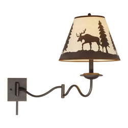 Vaxcel - Yellowstone Burnished Bronze Swing Arm Sconce - Vaxcel WL55612BBZ Yellowstone Burnished Bronze Swing Arm Sconce