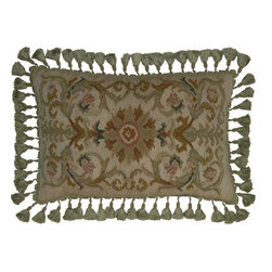 """EuroLux Home - New 16""""x24"""" Throw Pillow Flourishes Green - Product Details"""