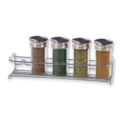 "Better Houseware Corp - Spice Shelf - Sometimes you just need a little shelf. This is perfect. Will keep your most used items close at hand. Holds up to 5 jars of your own spices. Chrome. Bottles are not included.11 1/4""w x 3""h x 2 1/4""d"