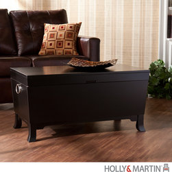 Holly & Martin - Holly & Martin Carberry Trunk Cocktail Table-Black - Who doesn't need a little more storage space? Discover a new storage option, hidden right in plain sight, with this great cocktail table trunk.